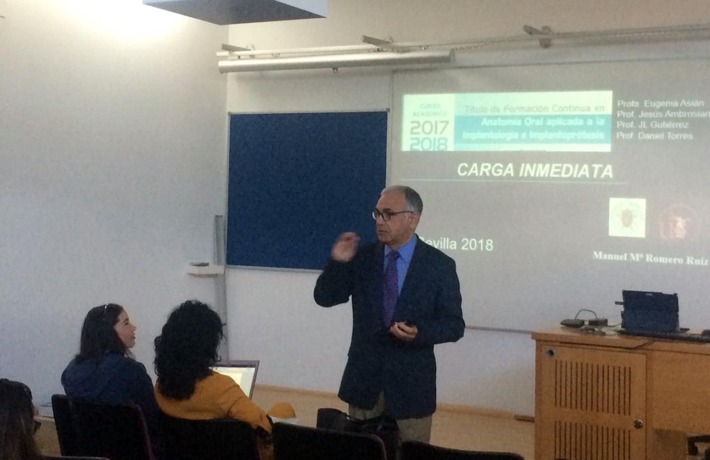 El Dr. Manuel Mª Romero habla de carga inmediata en el Curso de Anatomía aplicada